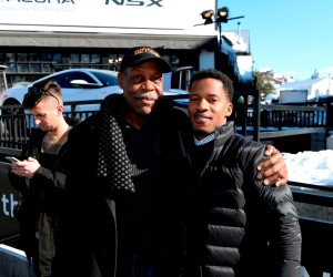 Danny Glover and Nate Parker-2 seen at the Acura Studio during the 2016 Sundance Film Festival
