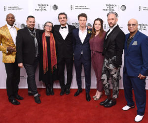 """NEW YORK, NY - APRIL 15:  (L-R) Carlton Wilborn, Luis Camacho,  Guest,  Salim Gauwloos, Reijer Zwaan, Ester Gould, Kevin Stea and Oliver Crumes III attends """"Strike A Pose"""" Premiere - 2016 Tribeca Film Festival at SVA Theatre 1 on April 15, 2016 in New York City.  (Photo by Ilya S. Savenok/Getty Images for Tribeca Film Festival)"""