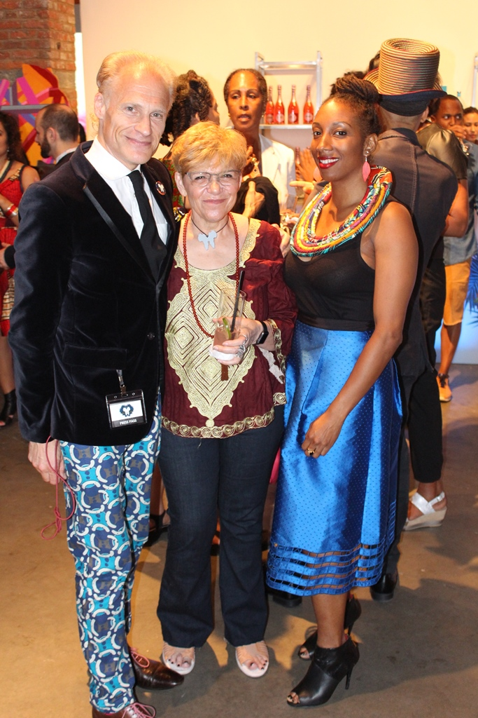 Activist & Artist Ayana V. Jackson, Humanitarian & Creative Director Leigh Blake and L'Etage Magazine Editor-at-Large, Art Consultant & Designer Joakim von Ditmar (photo Jeanice Parker)