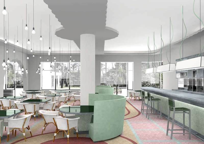 Artist S Rendition Of The Private Restaurant At Soon To Be Launched Metropolitan By Como Miami Beach Hotel 2