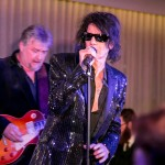 Peter Wolf, lead member of The J. Geils Band, rocks out during the New Year's Eve festivities at The Knickerbocker Hotel. Rumored to be the birthplace of the Martini, The Knickerbocker Hotel, located at the edge of Times Square, celebrated its first New Year's celebration after 95 years since it reopened in February 2015.