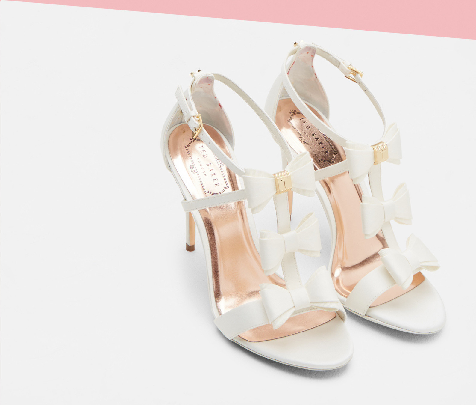 886adfd2a218 APPOLNI Triple Bow Detail Sandals courtesy of Ted Baker.