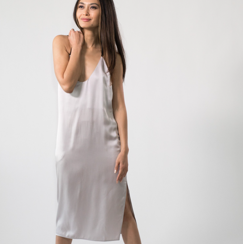 Washable Silk Slip Dress by Lunya