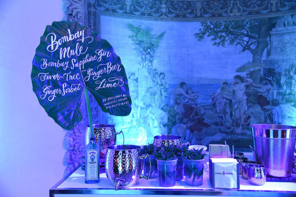 MIAMI BEACH, FLORIDA - DECEMBER 06: A view of decor at the 9th Annual Bombay Sapphire Artisan Series Finale Hosted By Tessa Thompson at Villa Casa Casuarina on December 06, 2018 in Miami Beach, Florida. (Photo by Jamie McCarthy/Getty Images for Bombay Sapphire)